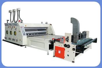 Automatic paper feeding printing and die-cutting machine