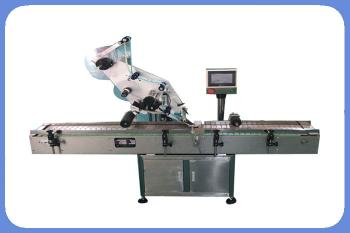 Higee automatic top surface labeling machine with one or two sides bag, pouch