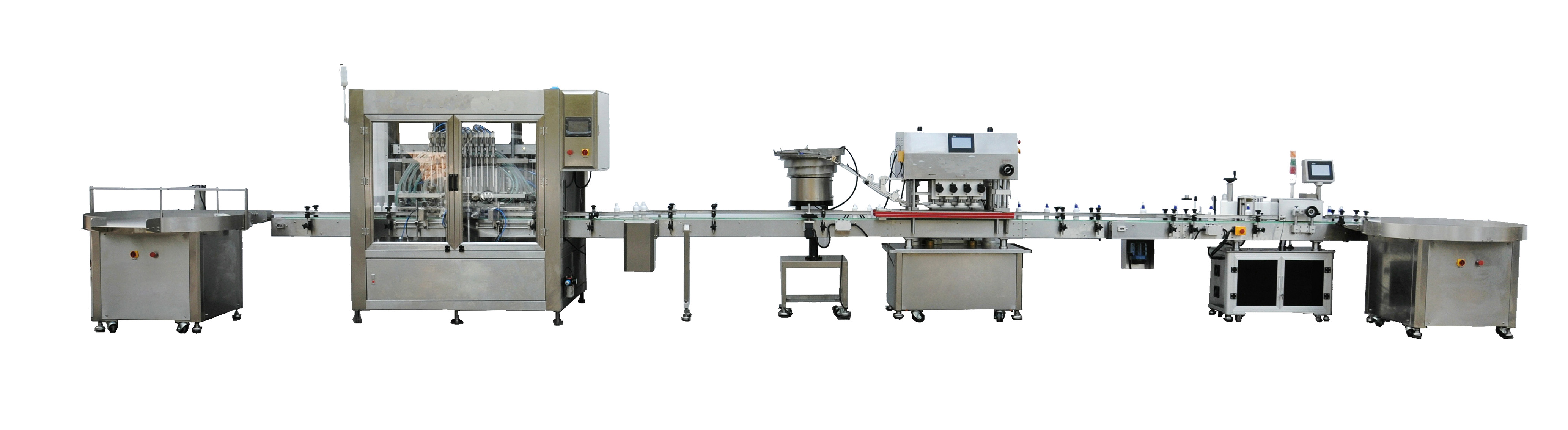 linear filling capping and labeling machine