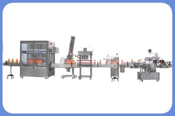 Automatic 3 L or 5 L bottle or jar lube oil and engine oil filling, capping and labeling machine line