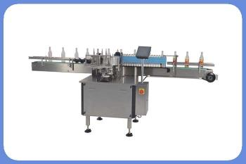 Automatic round glass or plastic bottle wet cold glue label machine with paper labels